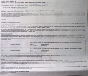 HSBC Trust Notice Minibond (Part 1)